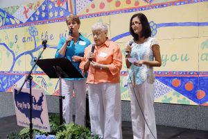 Amazing Grace was sung in English, Spanish and Vietnamese by Judith Calhoun, Linda Zavala and Sac Toa.